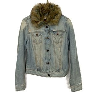 Hollister Jean jacket with faux fur top